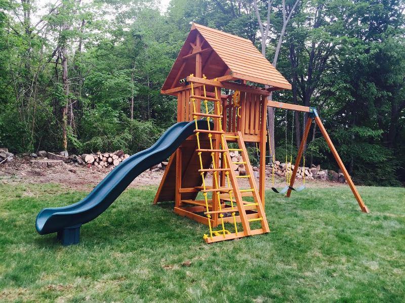 Ultimate Cedar Swing Set Backyard Playset Ny Ct
