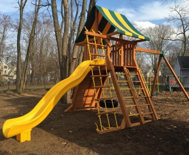 Extreme Outdoor Playset Installed in Backyard