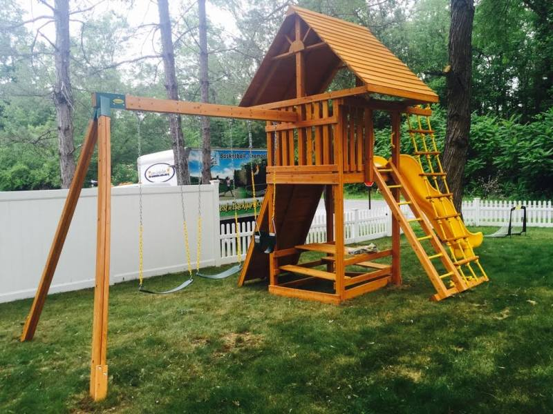 Ultimate Cedar Swing Set   Backyard Playset   NY & CT
