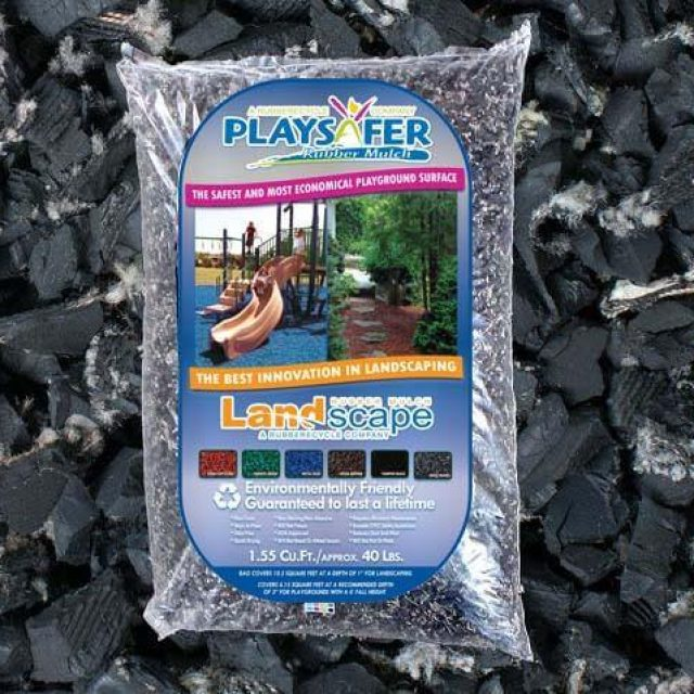 basic black rubber mulch