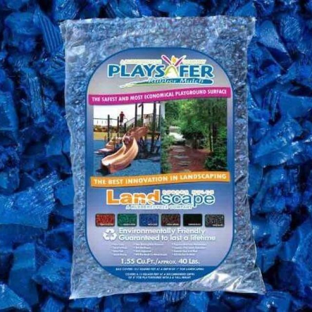 royal blue rubber mulch