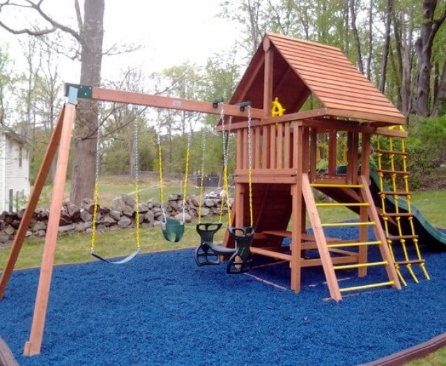 kids playsets with rubber mulch in ct