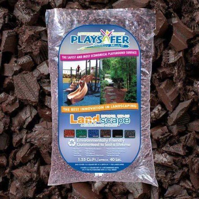 cocoa brown rubber mulch