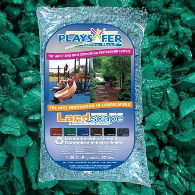 forest green rubber mulch