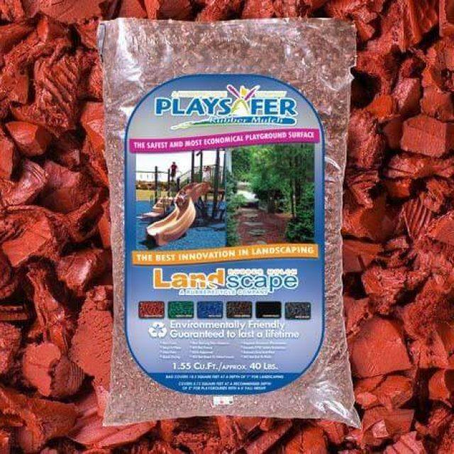 terra cotta red rubber mulch
