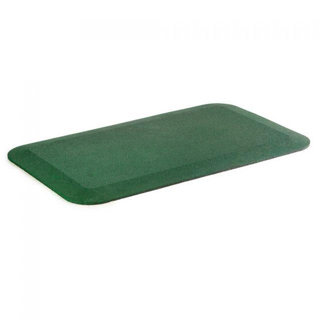 green rubber wear mat