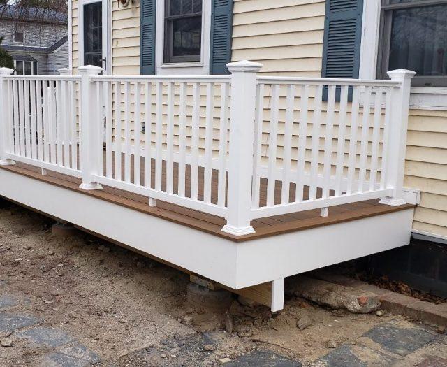 white vinyl railing installation in elmsford ny