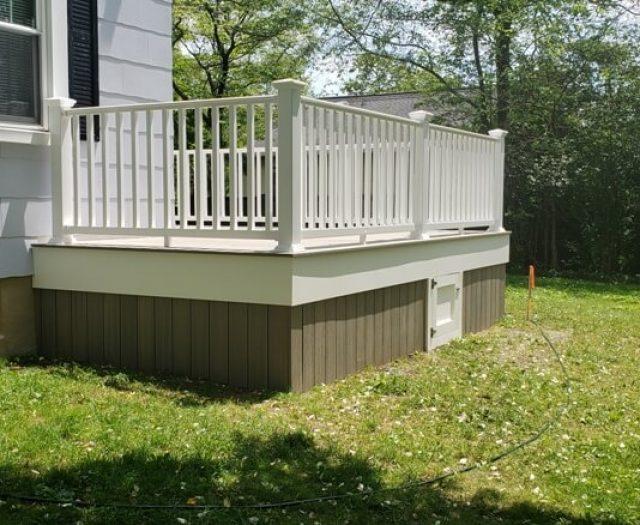 white vinyl railing installation in new rochelle ny