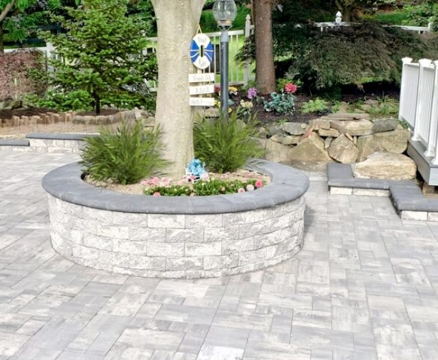 Mahopac NY Grey Stone around pool