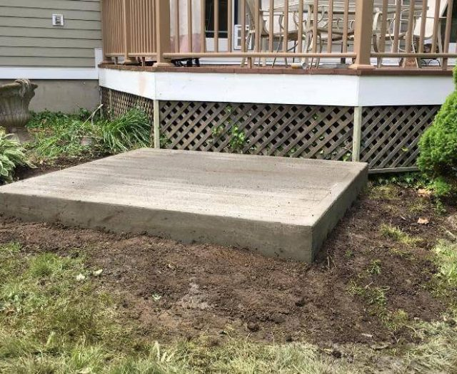 concrete pad preparation for new hot tub