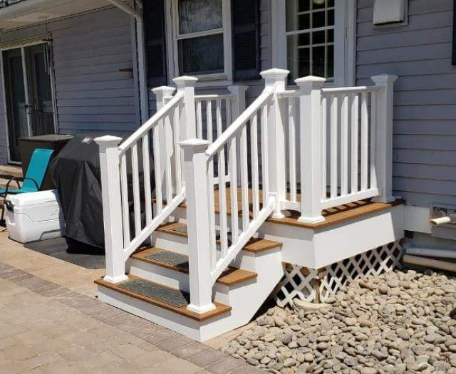 composite decking with stairs