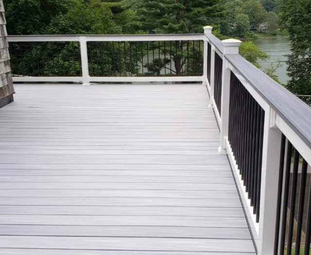 Composite deck built with west gret newtech