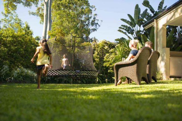 springfree trampoline backyard fun in the summer