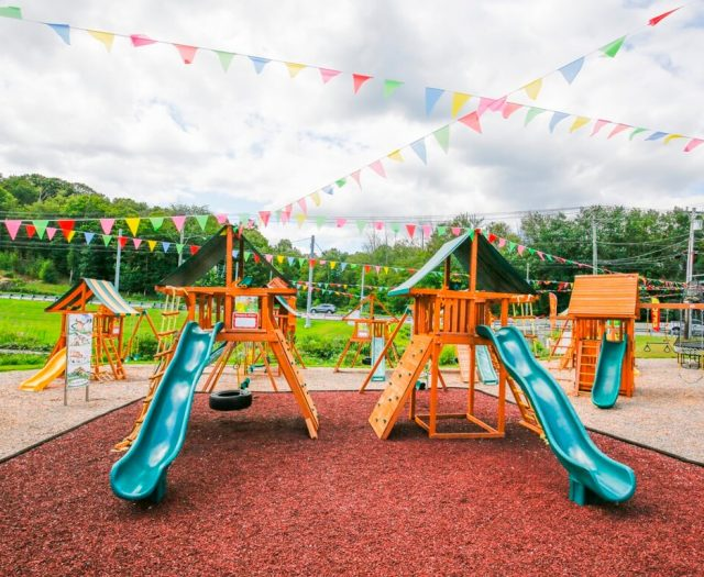 Wood Swing Sets and Mulch CT
