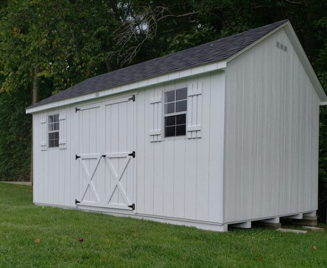 10x16 Backyard A Frame Storage Shed Installed