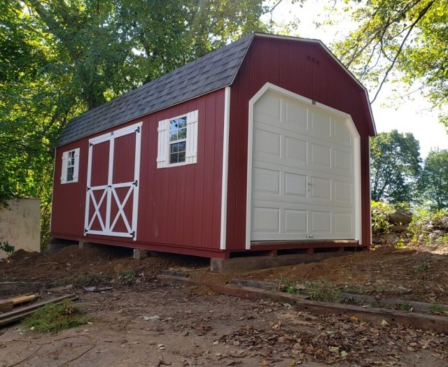 10x20 Dutch Barn Storage Shed in Red