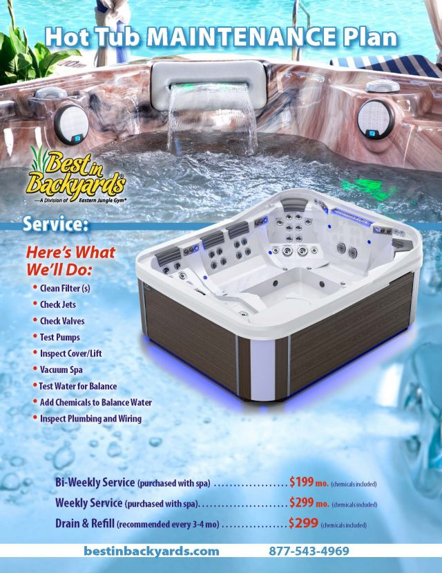 Hot Tub Maintenance Service Plan - 062020