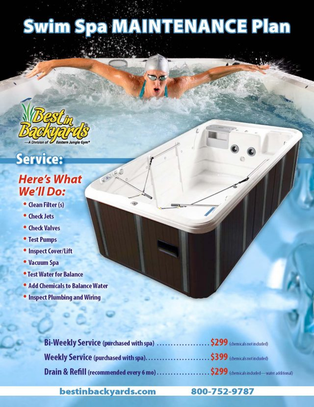 Swim Spa Maintenance Plan Service Plan - 062020