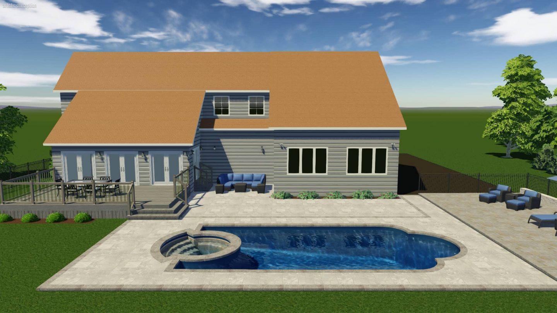 backyard pool rendering technology
