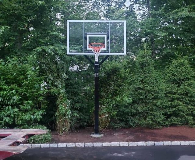 All American Basketball Hoop in Dirt