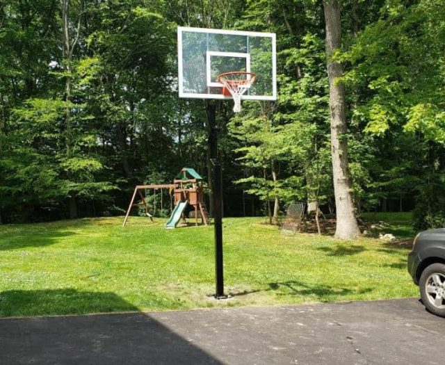 All American Basketball Hoop in Grass