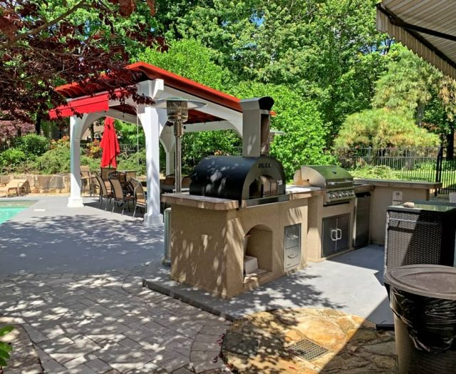 Bull Outdoor Kitchen Island Pizza Oven Prebuilt