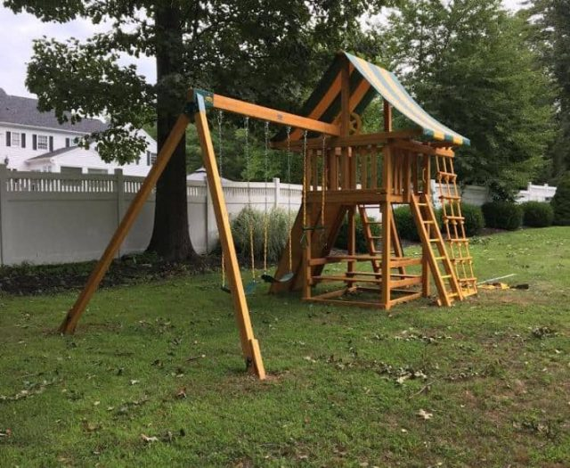 Dream Swing Set with Add On Step Ladder and Picnic Table