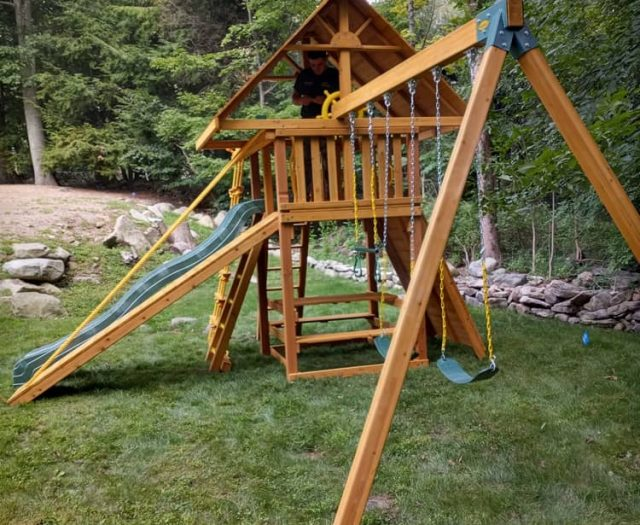 Dream Swing Set with Gang Plank and Sling Swing