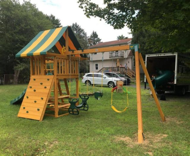 Dream Swing Set with Picnic Table Add On