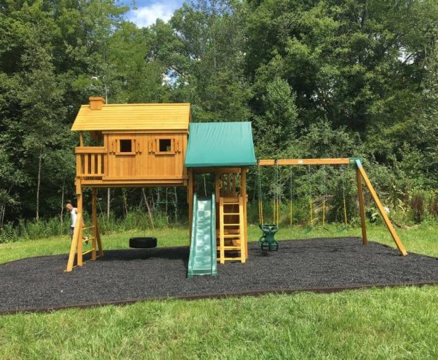 Fantasy Tree House with Black Mulch