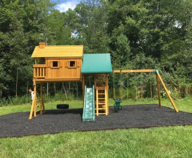 Fantasy Tree House with Black Mulch