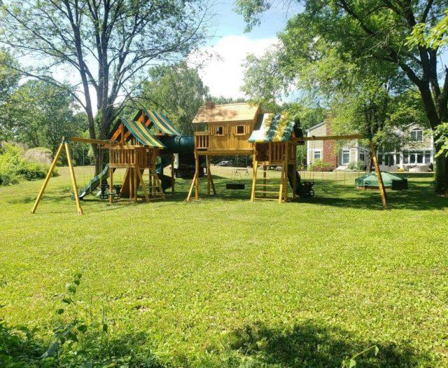 Imagination Jungle Gym with Open Spiral Slide