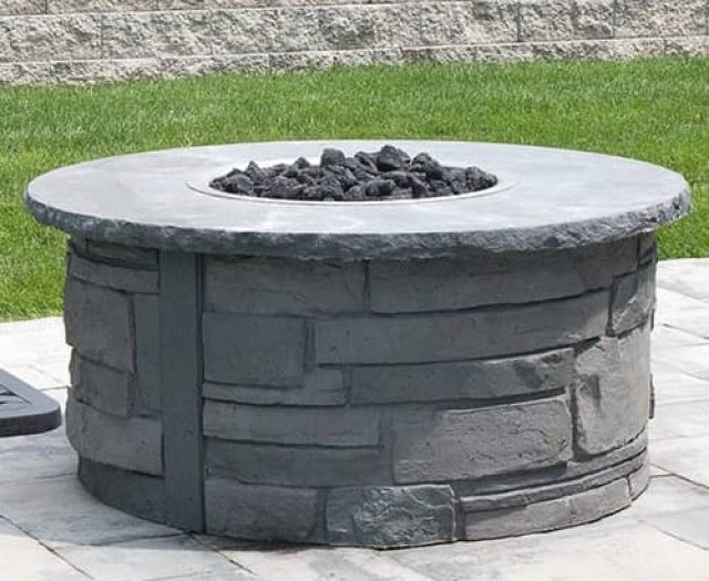 Ovation Fire Pit Stone Ledge in NY Bluestone Deluxe