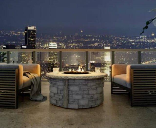 Ovation Fireplace Outdoor Backyard