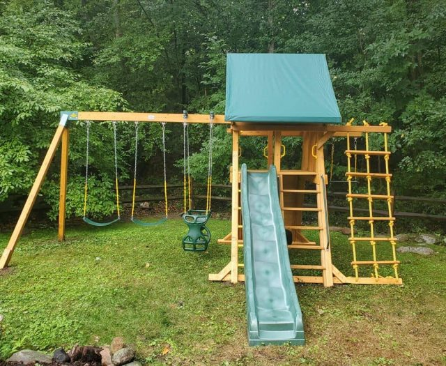 Supremescape Swing Set with Horse Glider and Extra Swing Beam