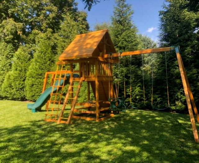 Ultimate Swing Set with Picnic Table, Monkey Bars and Scoop Slide