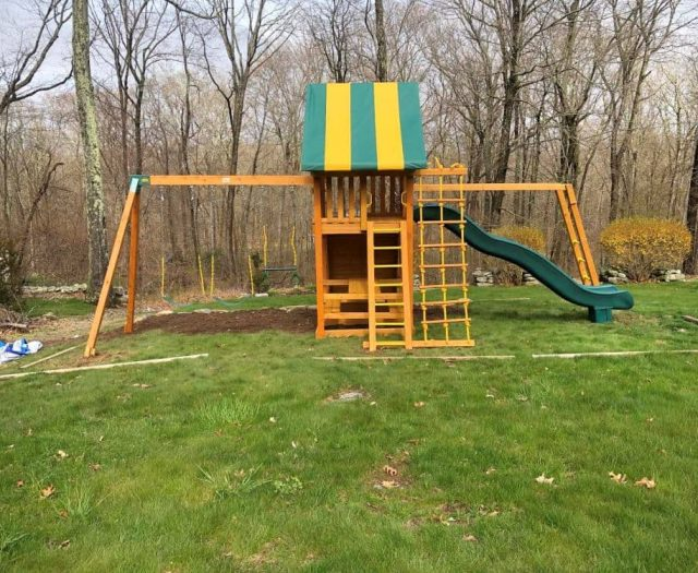 Ultimate Swing Set with Picnic Table and Monkey Bar Add Ons
