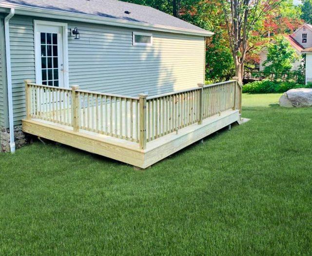 Ground Level Wooden Deck