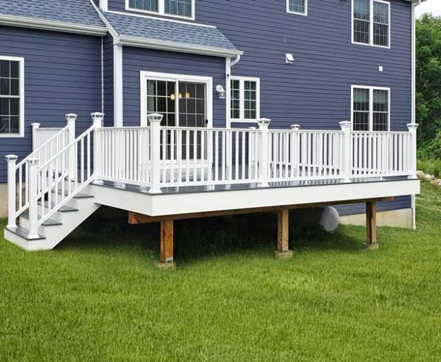new attached composite deck