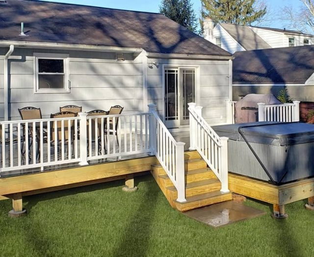 composite deck with south seas spa