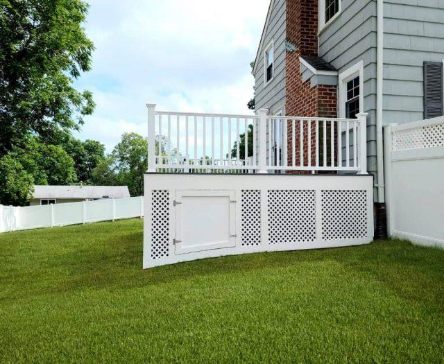 white vinyl deck railing installation services