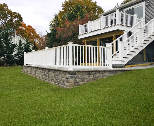 stone deck staircase
