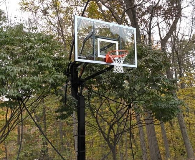 All American In Ground Basketball Hoop in Dirt