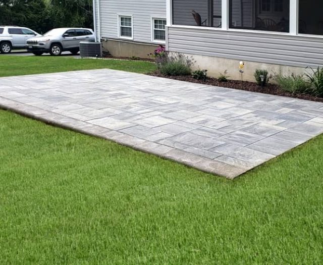 Ash Charcoal Stone Patio