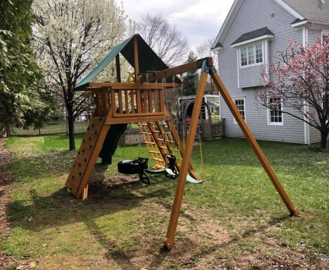 Extreme Jungle Gym Rock Wall Horse Glider Swing