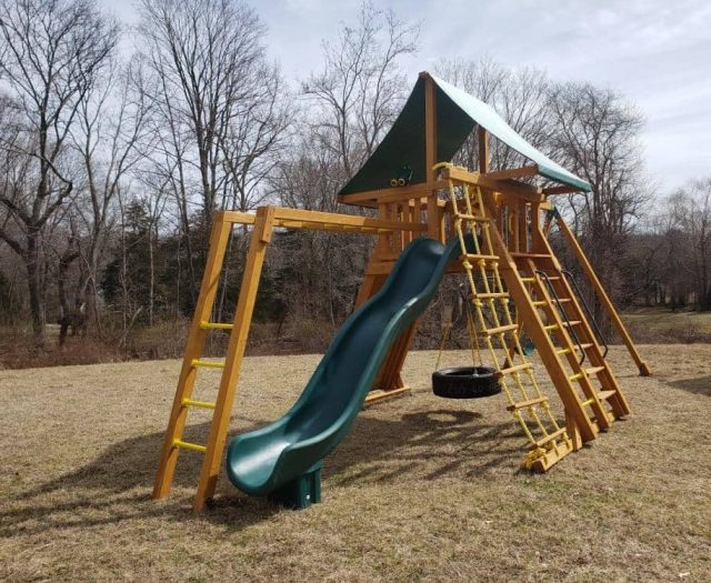 Extreme Jungle Gym with Jacobs Ladder and Scoop Slide
