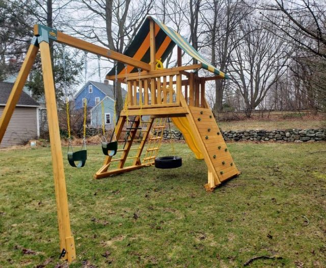 Extreme Swing Set Child Swing, Rock Wall and Swing Arm