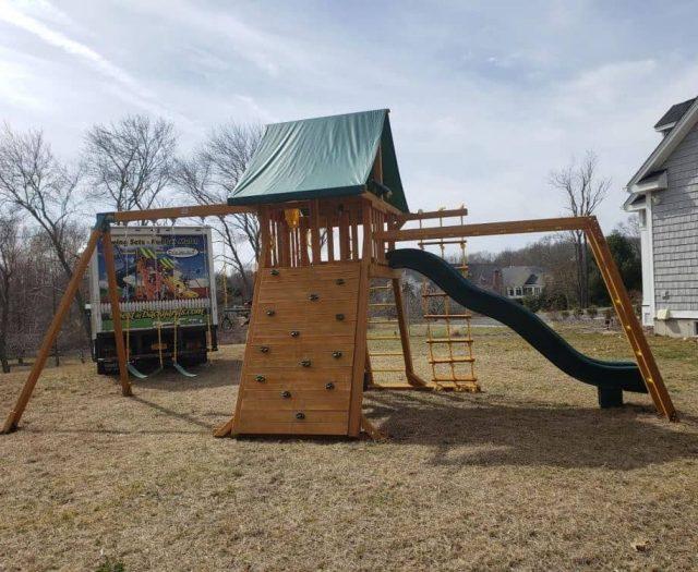 Extreme Swing Set Wave Slide and Monkey Bars