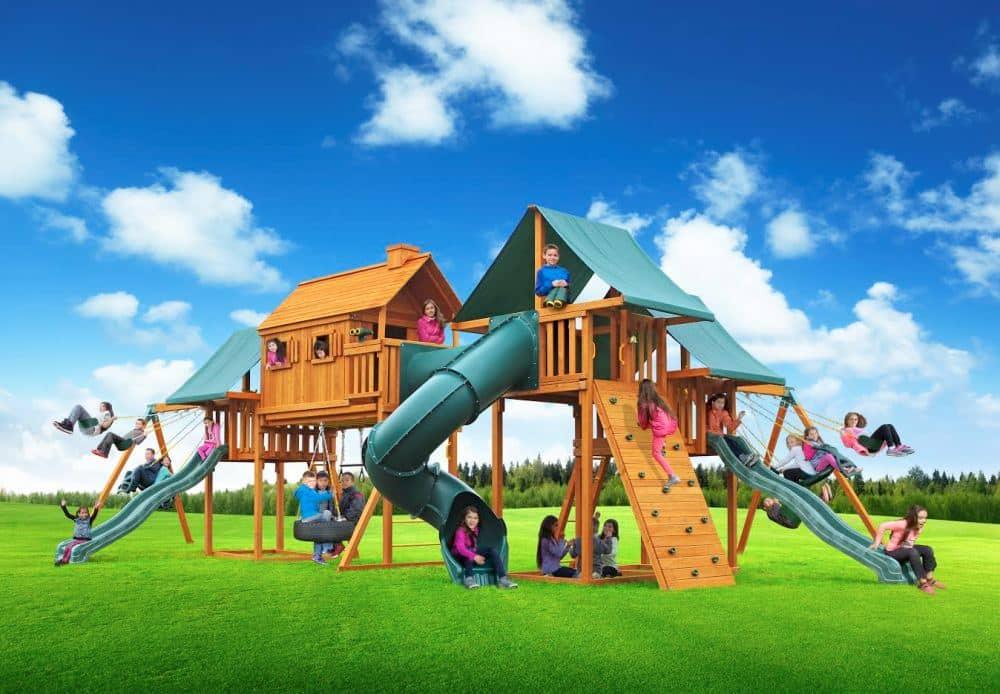 Enormous Imagination Cedar Playset For Sale | Treehouses ...
