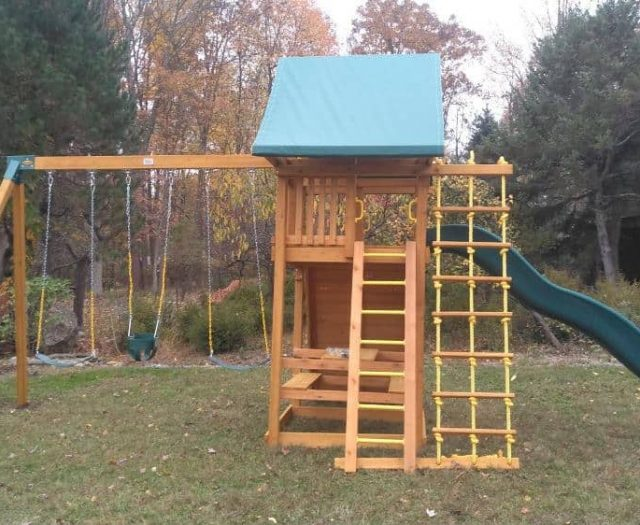 Ultimate Jungle Gym with Slide, Swings, and Jacob's Ladder